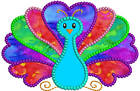 Peacock Applique Machine Embroidery Designs 2 Sizes Inc