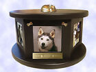 Decorative Engraved Rotating Photo Pet Urn Dog Cat