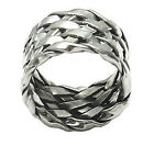 Sterling Silver Sparkling Woven-Design Ring A10203