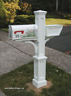 Westbrook Mailbox Post - Mayne PVC Vinyl Mail Box Post