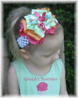 M2MG POPSICLE PARTY HairBow HEADBAND Clip BIRTHDAY BOW