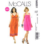 McCall's 6351  OOP Easy Sewing Pattern to MAKE Easy Sun Dress w/Low Back