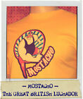 British Mostacho Lucha Libre Wrestling adult t shirt yellow