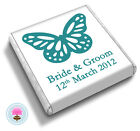 50 Personalised BUTTERFLY Wedding Favour Chocolates (Little Pink Wishes)