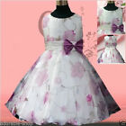 Girl Purple Fancy Christmas Wedding Party Flower Girls Dresses SIZE 2 3 4 6 8 10