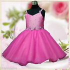 Hot Pinks Pageant Wedding Party Flower Girls Dress 2-8Y