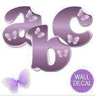 Внешний вид - Name Wall Letters Alphabet Stickers Initial Decals Girls Decor Purple Butterfly