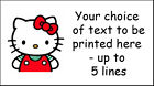 Hello Kitty Personalised Craft Address Stickers Labels~ mini or larger size