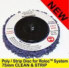 "10 x 75mm 3"" POLY STRIP DISC WHEEL PAINT RUST REMOVAL CLEAN ROLOC SYSTEM DISK"