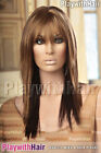 NEW Long Super Sleek Razor Cut Wig - COLOUR CHOICES! Black Blonde Brown Red