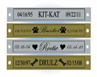 SINGLE LINE ENGRAVED PET MEMORIAL NAME PLATE - With or W /O Screwholes - Dog Cat