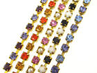 Austrian Crystal Rhinestone Chain 3mm (24pp) Alternating Colors 3 Feet