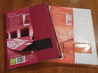 ACCO REXEL PROSTYLE DISPLAY BOOK A4  20 POCKETS  RED 4400463 or WHITE 4400473
