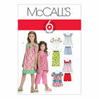 McCall's 6022 Sewing Pattern to MAKE Girls' Dress Top Trousers & Shorts