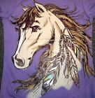Girls HORSE~SHIRT~Purple~TCP~NWT~Non Messy~CoLoRs~HORSE Camp~SCHOOL~Equine~