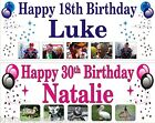 Birthday Party Banner Personalised photos 1-5m All Occasions Krafty Keepsakes