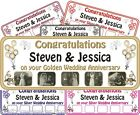 Wedding Anniversary Personalised Banner any year + photos 1-5m Krafty Keepsakes