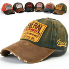ililily New Mens Baseball Caps Vintage Distressed Embroidery Trucker Hats c558