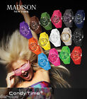 """Madison New York Uhr """" CANDY TIME """" Armbanduhr Sportuhr Farbauswahl"""