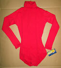 NWT Capezio Turtleneck Long sleeve Snap crotch Leotard RED Adult sizes  TB123