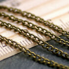 20ft Vintage Style Antique Bronze Plated Crub Link Chain 2.3mm c212 PICK