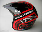 NEW WULFSPORT TRIALS HELMET RED (ALL SIZES) BETA MONTESA GASGAS HEBO TXT JT WULF