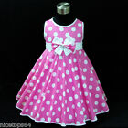 NWT 3121 Baby Girl Pink Red Blue Polkadotz Girls Dress Outfit SZ 2,3,4,5,6,7,8,9