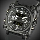 INFANTRY Mens Digital Quartz Wrist Watch Chronograph Date Military Black Rubber image