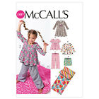 McCall's 6643 Girls' Stretch Top, Shorts, Dress Trs Sleeping Bag Sewing Pattern