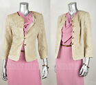 ARMANI COLLEZIONI by GIORGIO ARMANI JACKET BLAZER INTRICATE LACE BEIGE AUTHENTIC