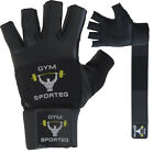 Sporteq Weight Lifting Fitness Leather Strap Gym Training Gloves