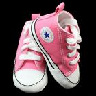 CONVERSE ALL STAR INFANT BABY GIRL PINK HI TOPS PRAM SHOES 1 2 3 4 TRAINERS BNIB