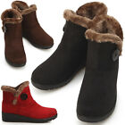 New Womens Casual Winter Snow Ankle Boots Shoes Multi Colored