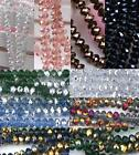 6mm Faceted Abacus Rondelle Glass Loose Beads Jewelry Making DIY Craft