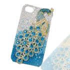 Gorgeous 7 Colors For iPhone 4/4S iPhone 5 Peacock Cover Case Rhinestone Crystal