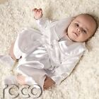 Baby Boys White Romper Christening Suit Jacket Hat Age 0-3 to 12-18 Months
