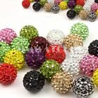 2 X ROUND SHAMBALLA CRYSTAL PAVE CLAY DISCO BALL BEADS 6mm 8mm 10mm 12mm 14mm B1