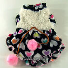 Dog&Cat Clothes Fuzzy Skirts Pom Balls Dresses_F303