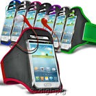 COLOUR SPORTS ARMBAND STRAP POUCH CASE AND EARPHONE FOR VARIOUS MOBILE PHONES