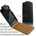 PREMIUM BLACK PU LEATHER CASE POUCH COVER FIT VARIOUS HTC PHONE MODELS