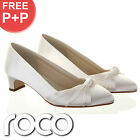 Ladies Ivory Kitten Heel Designer Rainbow Club Wedding Bridesmaid Bridal Shoes
