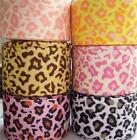 "5Yd 1.5"" Leopard   Grosgrain Ribbon hairbows free shipping"