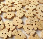 E363 Cartoon Gold Fish Wood Buttons Sewing appliques Kid's DIY Lots 500/100pc