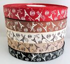 "Upick 1"" new grosgrain ribbon printing Eiffel Tower wedding party DIYcraft RG004"