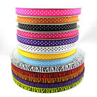 "100 Yards 3/8"" 10mm Lots Printed Cute Grosgrain Ribbon for crafts making colors"