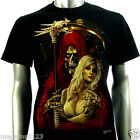 RC Survivor T-Shirt Sz M L XL XXL Grim Reaper Ghost Sexy Lady Biker Tattoo C98