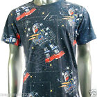 Minute Mirth T-Shirt Sz M L Space Star War Classic Biker Tattoo HipHop Surf N114