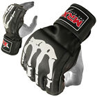 MRX FIGHT MMA GRAPPLING GLOVES CAGE BOXING FIGHTING BONE DESIGN ART.LEATHER