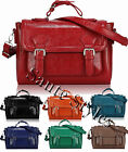 Ladies Leather Style iPad Notebook School Crossbody Bag Women Satchel Handbag