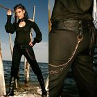 LIP SERVICE STEAMPUNK MILITARY ARMY VEGI LEATHER GOTHIC PANTS GOTH PUNK CORSET